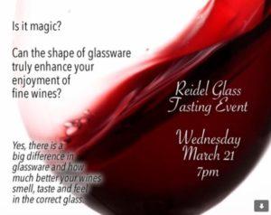 Reidel Glass Tasting Event